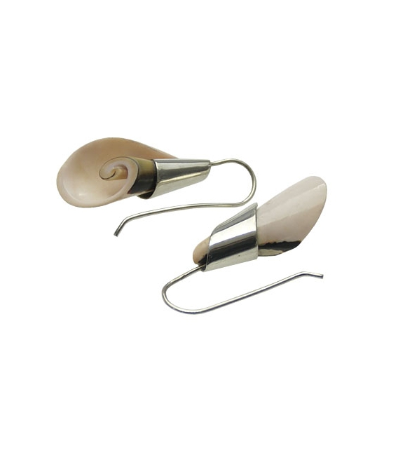Pendiemte lirio concha plata(1par)