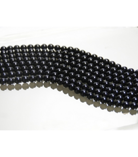 Hilo bola espinela negra 8mm extra