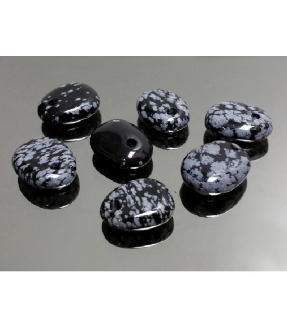 Colgante caramelito obsidiana nevada (10ud)
