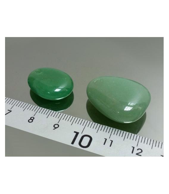 Colgante caramelito agujero frontal cuarzo verde(10ud)