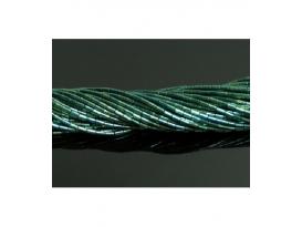 Hilo tubo hematite color verde