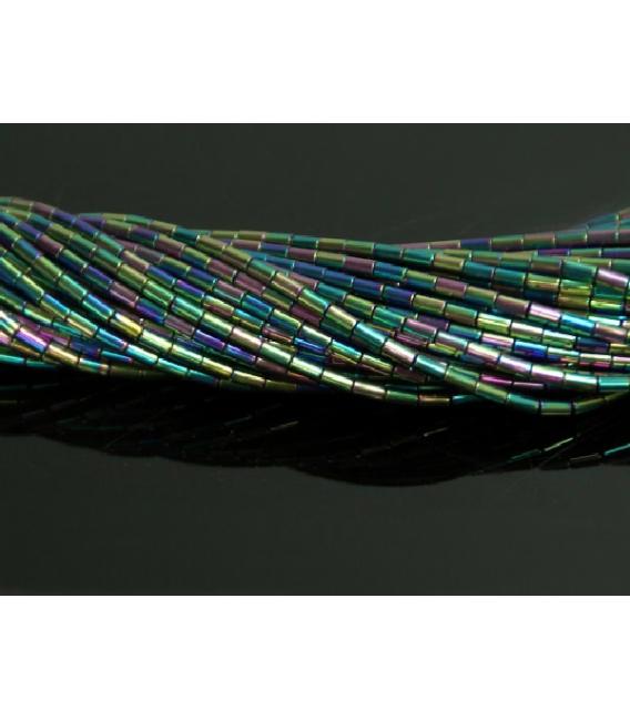 Hilo tubo hematite color arcoiris