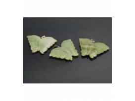 COLGANTE MARIPOSA JADE GRANDE PLATA (2ud)