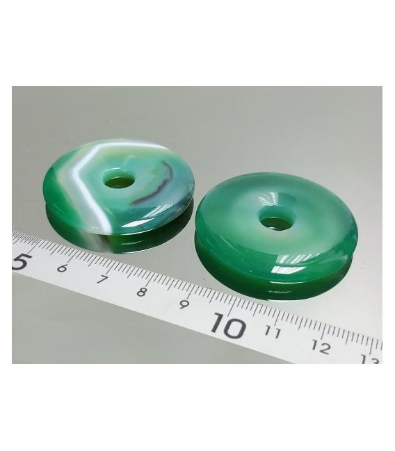 COLGANTE DONUT ÁGATA VERDE 40mm(5ud)