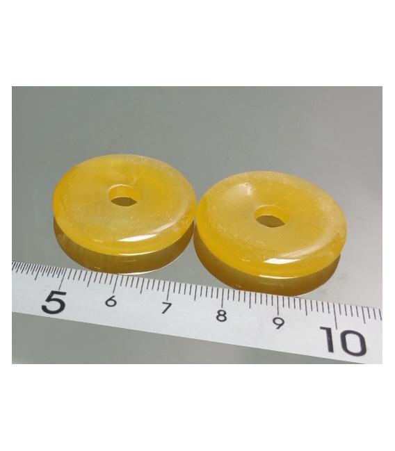 COLGANTE DONUT CALCITA AMARILLA 30mm (5ud)