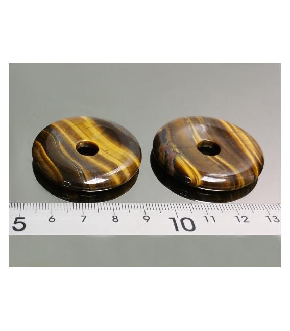 COLGANTE DONUT OJO DE TIGRE 40mm(3ud)