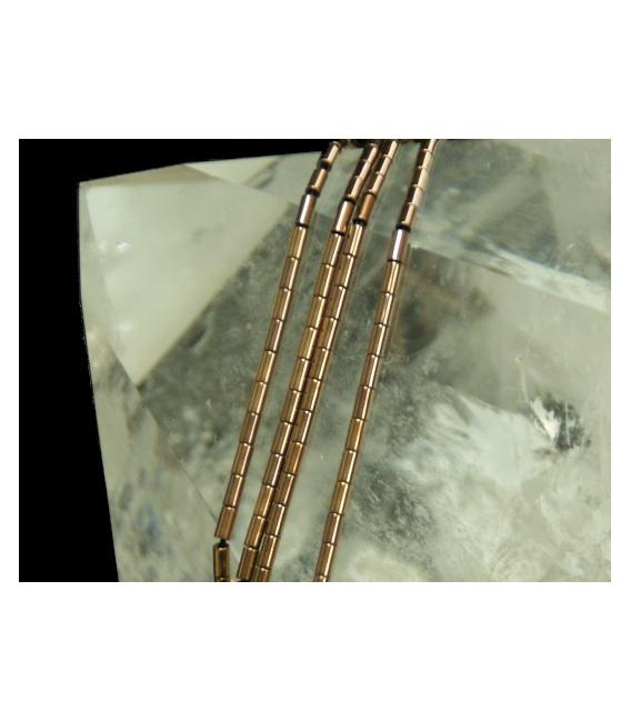 Hilo tubo hematite color cobre