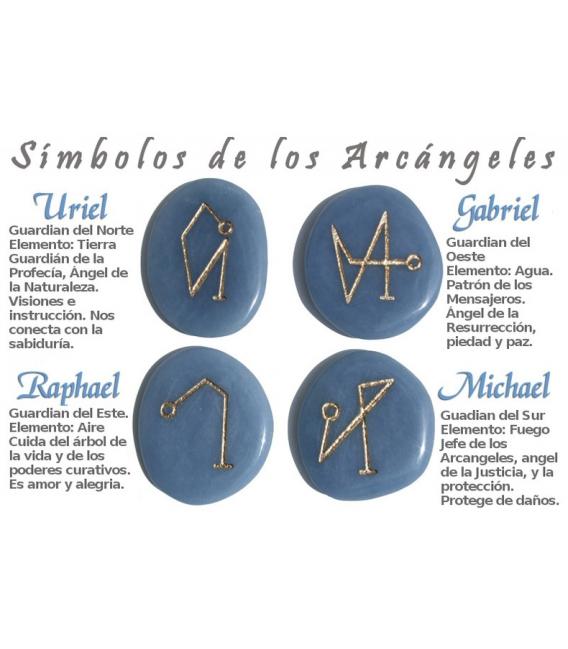 JUEGO ARCÁNGELES JASPE ROJO -bolsa 4 símbolos-