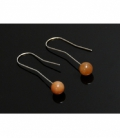 PENDIENTES SOL CALCITA NARANJA 8mm-1ud-/282PS