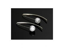 Pendiente vaina magnesita plata (1ud)