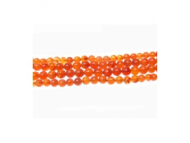 COLLAR MINERAL CARNEOLA BOLA 8/9mm -1ud-