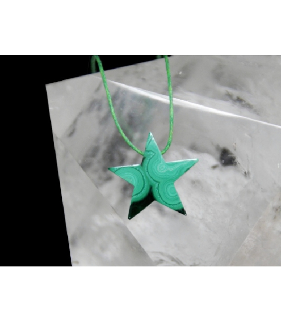 Colgante estrella biselada malaquita(1ud)