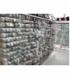 Pendiente largo facetado granate plata(1par)