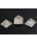 Pirámide reiki cuarzo (4 símbolos)