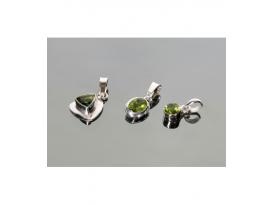 Colgante tallado olivino plata(1ud)