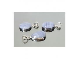 Colgante cabujón calcedonia plata(1ud)