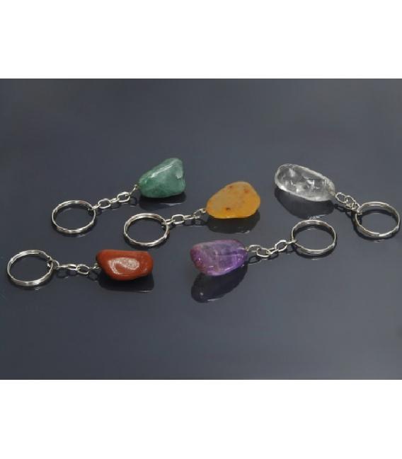llavero rodado minerales variados(5ud)