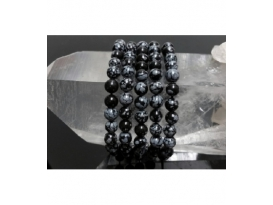 PULSERA BOLA 4mm OBSIDIANA NEVADA