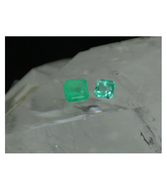GEMAS RECTANGULAR FACETADAS ESMERALDA EXTRA 5x4mm-1ud-