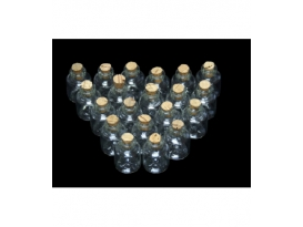 BOTELLAS MINIS CRISTAL (10botellas/1bolsa)
