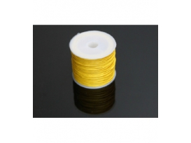 CORDÓN ALGODÓN ENCERADO 1mm AMARILLO -35ml-