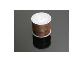 Cordón algodón encerado marrón 1mm (35ml
