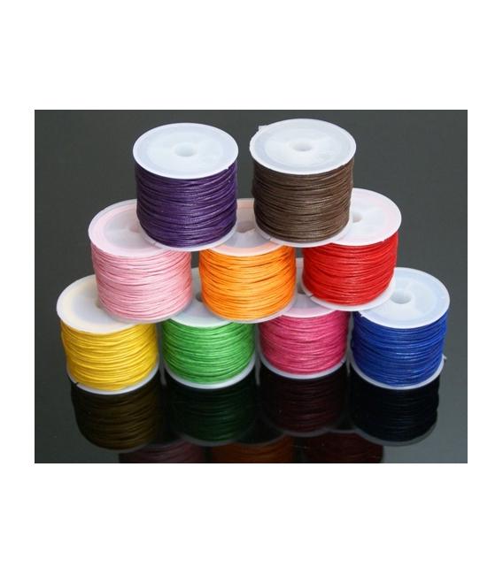 Cordón algodón encerado naranja 1mm (35ml)