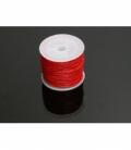 Cordón algodón encerado rojo 1mm (35ml)