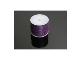 Cordn algodón encerado algodón 1mm violeta