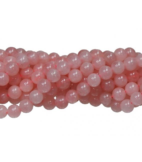 Hilo bola cuarzo rosa 8mm