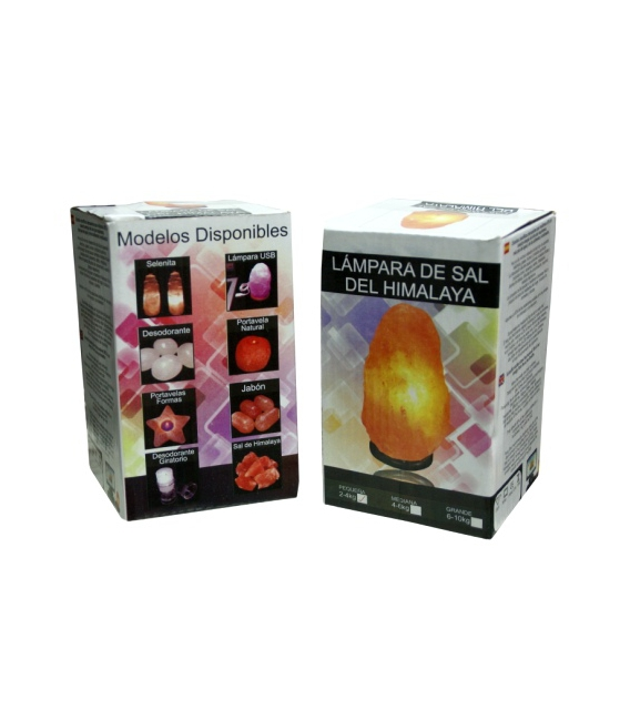 Lámpara de Sal Pequeña de 2 a 4 kg. en caja de 6 unidades