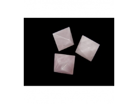 OCTAEDRO CUARZO ROSA  EXTRA 35mm -1ud-