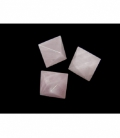 OCTAEDRO CUARZO ROSA  EXTRA 25mm -1ud-