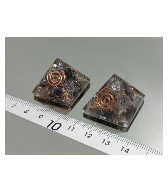 PIRÁMIDE ORGONITE MINI 2.5x2.5cm SODALITA -1ud-