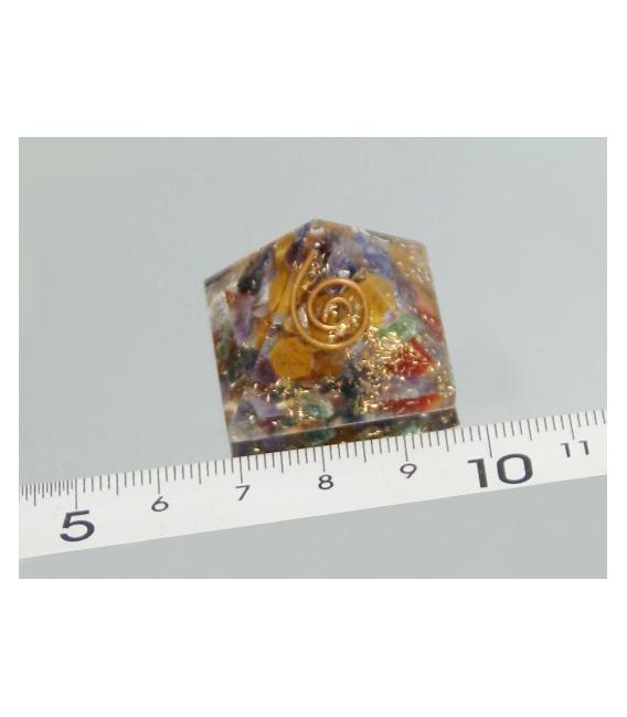 PIRÁMIDE ORGONITE MINI 2.5x2.5cm MULTICOLOR-1ud-