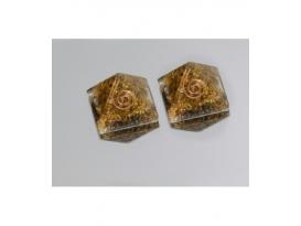 Pirámide orgonite mini 2.5 x 2.5 cm ojo de tigre
