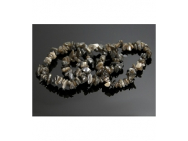 PULSERA CHIP AGATA GRIS OSCURO-10ud-
