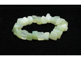 Pulsera chip grande jade verde