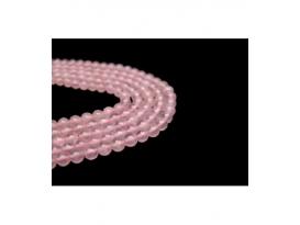 Hilo bola cuarzo rosa 6mm primera