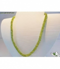 COLLAR PERIDOTO FACETEADO