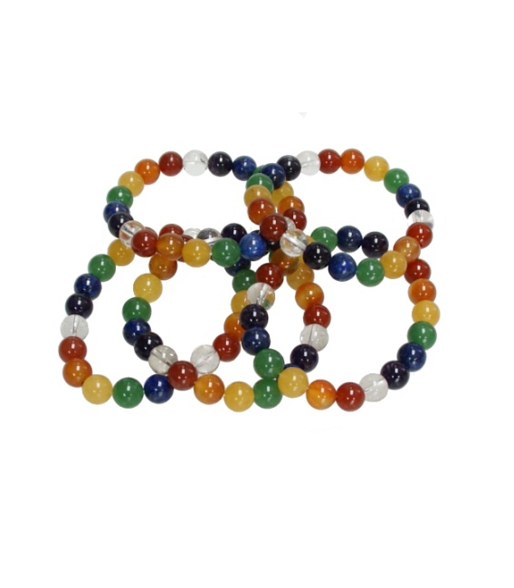 PULSERA 7 CHACRAS BOLA EXTRA 6mm -1ud-