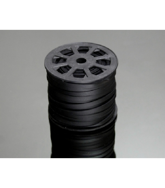 REGALIZ 6mm NEGRO -50mts-