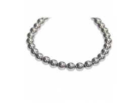 HILO HEMATITE COLOR PLATA BOLA 08MM/0079HMB
