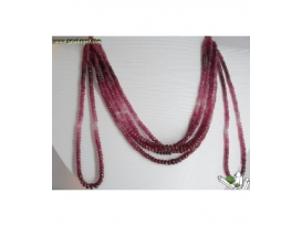 COLLAR RUBIES FACETEADO Y DEGRADÉ -1 tira-
