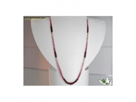 COLLAR RUBIES FACETEADO EN DEGRADÉ LARGO