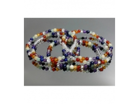 PULSERA 7 CHACRAS BOLA 4mm EXTRA -1ud-