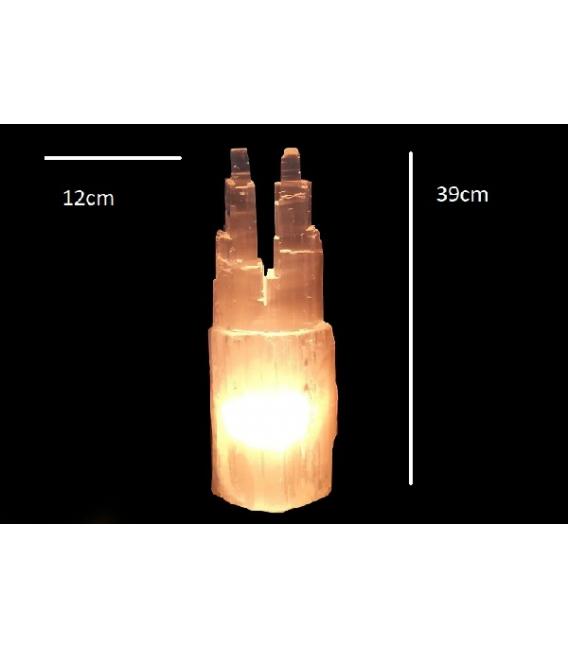 LAMPARAS SELENITA CATEDRAL DOBLE GIGANTE (4ud)