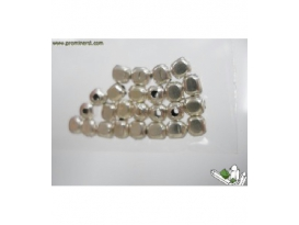 FORNITURA PLATA CUBO 4X4MM (20 UD)