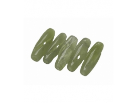 AGUJERO GRANDE JADE CARVING BARRILETE 8X25mm -5ud-