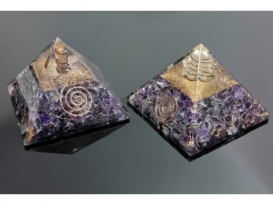 PIRAMIDE ORGONITE AMATISTA 10CM